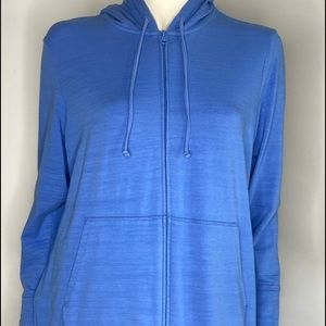 T by Talbots Hooded UPF 50t Zip up Jacket Sz X
